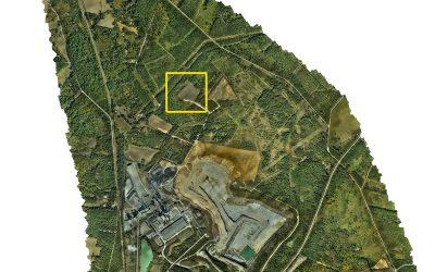 Levé topographique de 700 Ha par drone